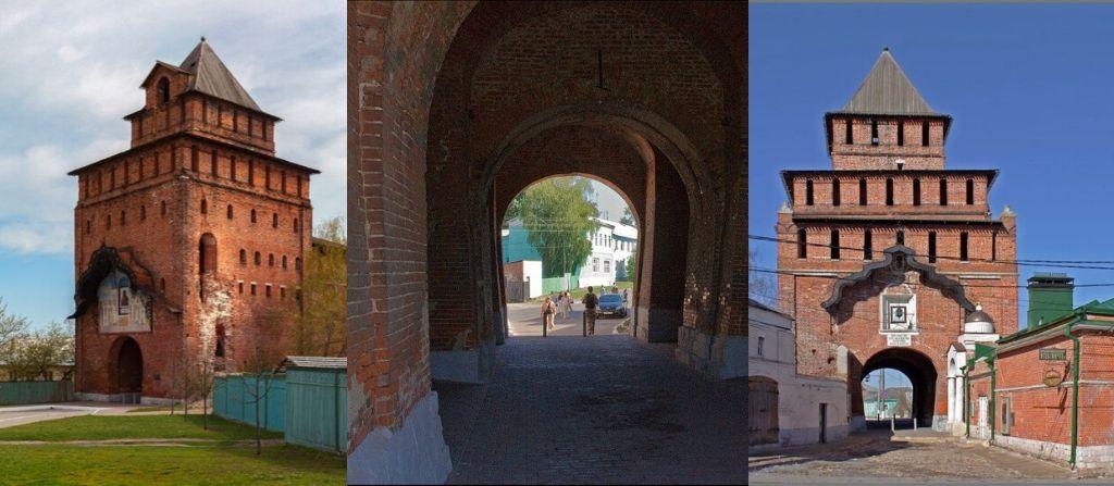 Пятницкие ворота в Коломне