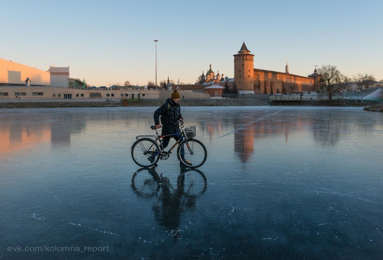 река Коломенка на льду