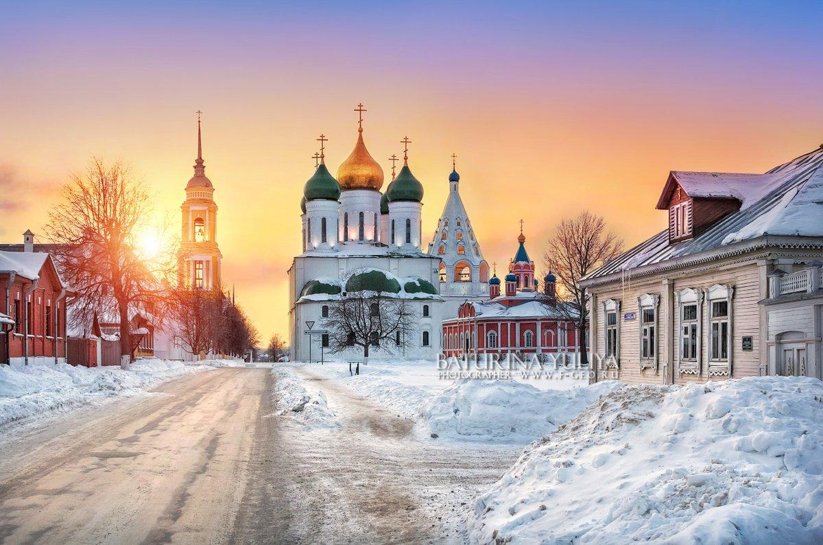 В коломенском кремле зимой
